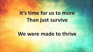 """Thrive"" Instrumental with lyrics"