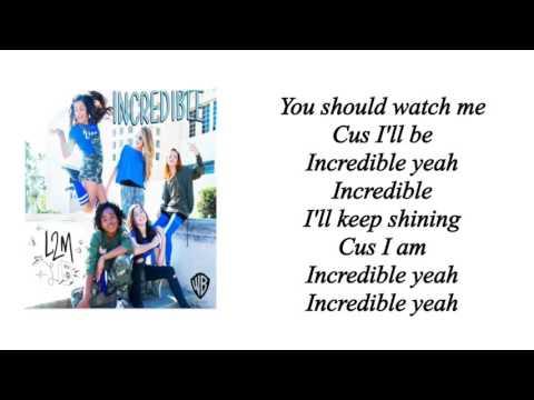 L2M - Incredible (Lyrics)
