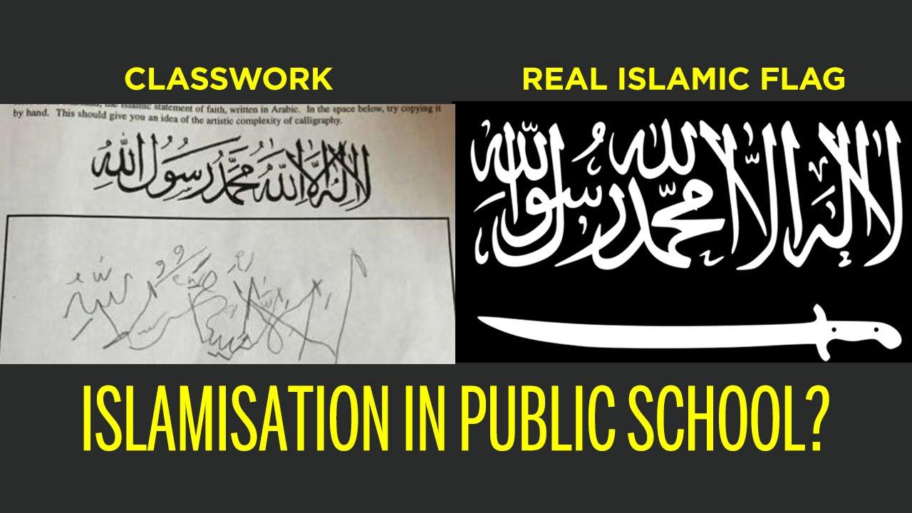 Shahada calligraphy lesson islamisation or religious diversity