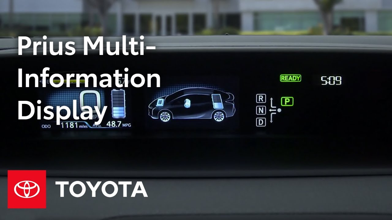 Toyota Prius How To Multi Information Display Mid