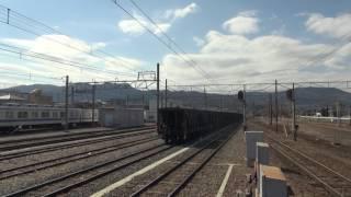 秩父鉄道貨物列車 寄居駅で列車交換