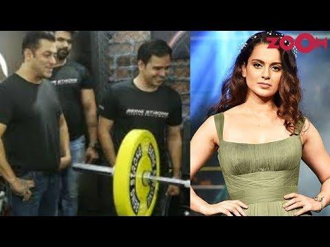 Salman Khan gives a fitness challenge | Kangana celebrates completion of Manikarnika & more