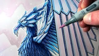 Let's Draw an ICE PHOENIX - FANTASY ART FRIDAY