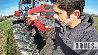 Démontage en atelier des pneus avant du tracteur - 2019