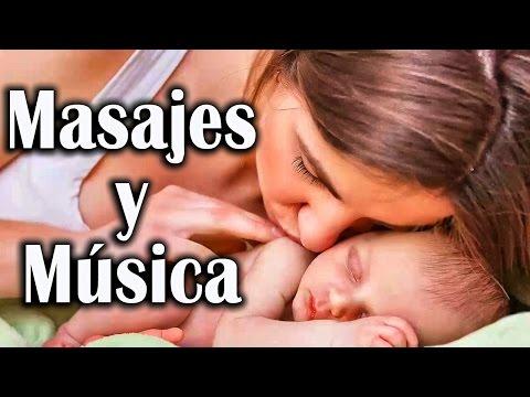 Tu bebé dormirá toda la noche con estos masajes y música para relajarlo - 2 Horas Canciones de Cuna