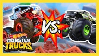 Monster Truck Teams Battle It Out! | Monster Trucks | Hot Wheels
