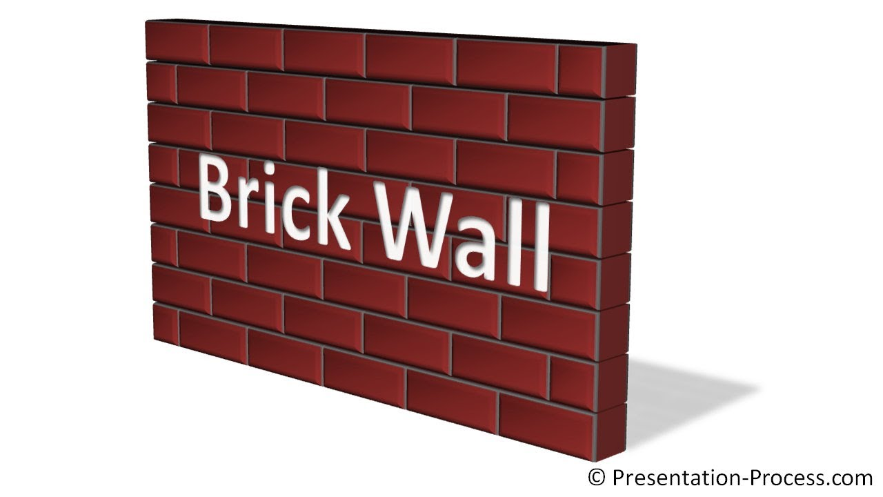 Powerpoint Brick Wall Texture   Powerpoint Diagram