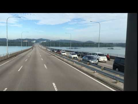 Timelapse Second Link Expressway after Tuas Checkpoint Singapore