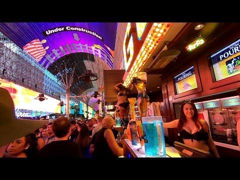 FREMONT STREET LAS VEGAS NIGHT SCENES JUNE 2019