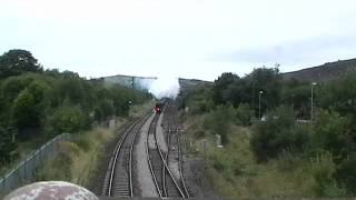 70013 Oliver Cromwell approach to Standedge tunnel 12/8/11