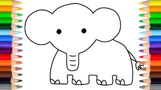怎样画可爱的大象 let