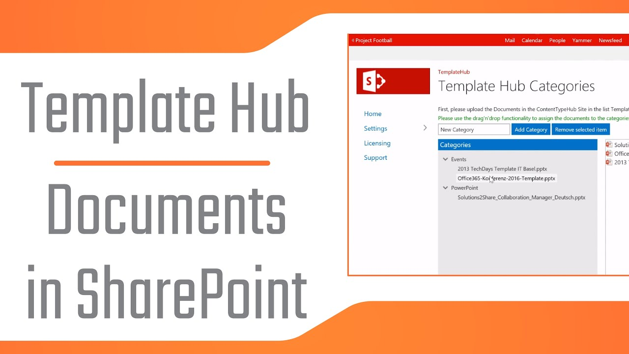 SharePoint Template Hub - Manage document templates
