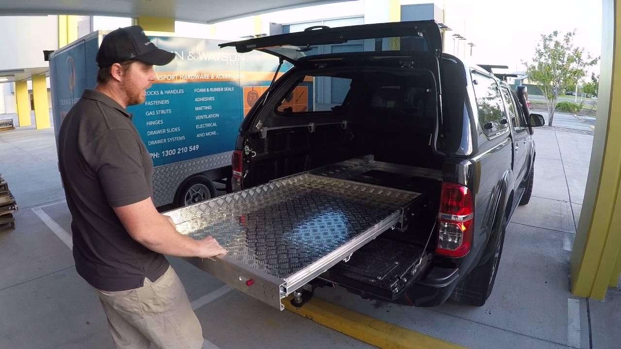 Dunn Watson Aluminium False Sliding Ute Tray Floor