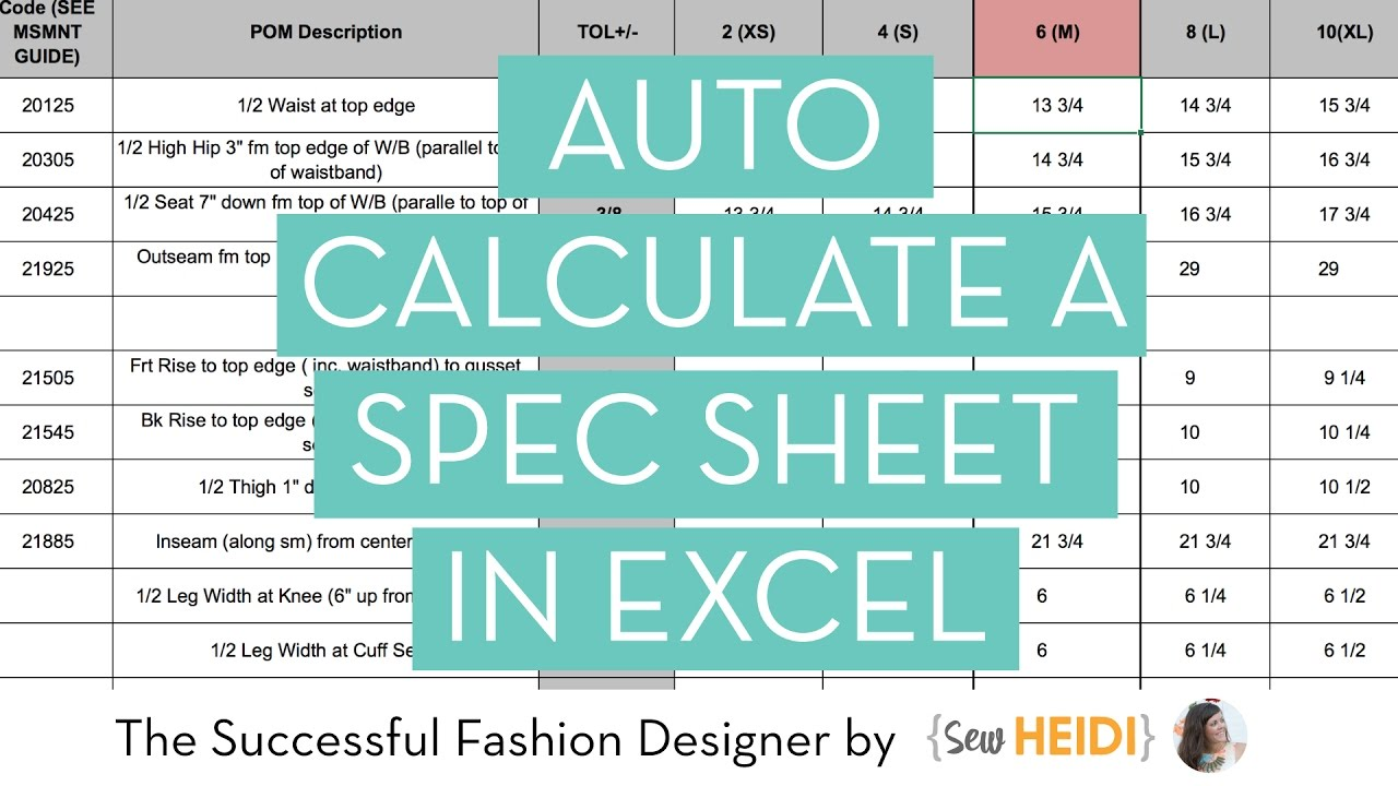 How to Calculate Grade Rules for Fashion (in Excel) - YouTube
