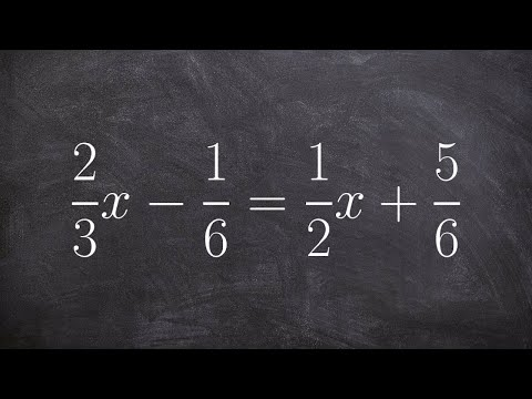 Solving a multi-step equation with fractions and variable on both sides