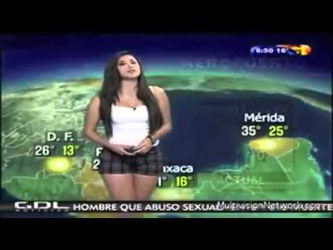 Can YOU see why this clip of Mexican weather presenter Susana Almeida has gone viral?