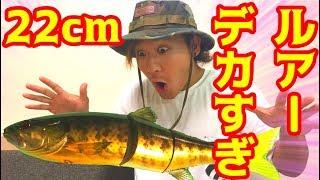 22cmの超巨大ルアーで魚が釣れる!?