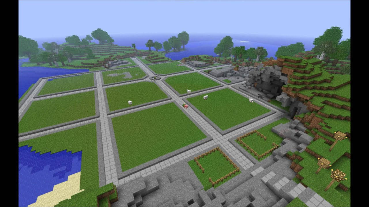 Minecraft Town Timelapse Layout - YouTube