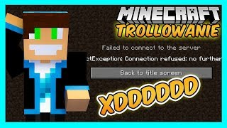 WYWALIŁEM CAŁY SERWER! Minecraft Trollowanie - ULTRA CHAMSKO 3!