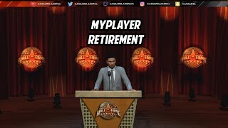 NBA 2K19 - What happens when you retire your MyPlayer from mycareer? you wont believe what happened!