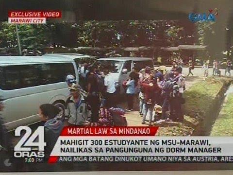 Mahigit 300 estudyante ng MSU-Marawi, nailikas sa pangunguna ng dorm manager