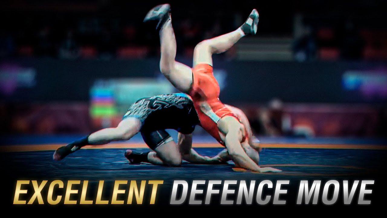 Great defence move in wrestling | WRESTLING