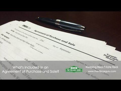 The Agreement of Purchase and Sale Explained