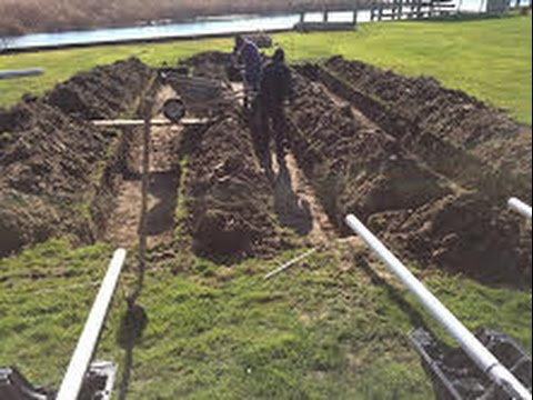Install septic field with Infiltrator System for leach field with PVC pipe