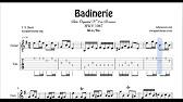 Badinerie J  S  Bach Tab Sheet Music for Guitar B minor