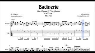badinerie classical guitar videos, badinerie classical