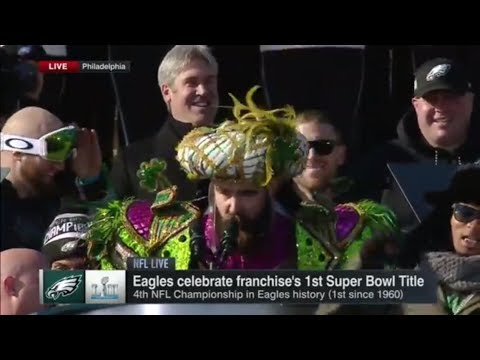 1a23988cc9e64a Jason Kelce calls out Eagles haters in an epic Super Bowl parade speech |  ESPN