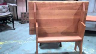New England Hutch Table in Cherry by Primitiques, High Country Designs