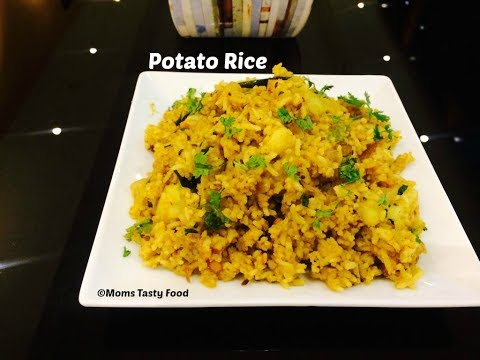 Aloo Rice Recipe - Potato Rice Recipe - Easy Indian Rice Varieties For Lunch - Moms Tasty Food