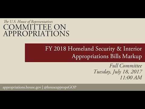 Full Committee Markup: FY18 Homeland Security Appropriations Bill - Part 1 (EventID=106284)