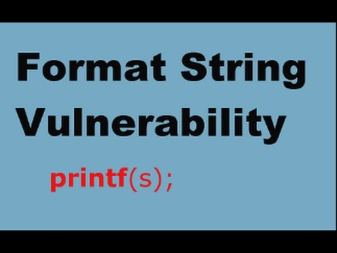 Format String Vulnerability Lecture