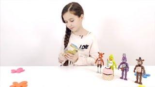 ЛЕРА и АНИМАТРОНИКИ ПЯТЬ НОЧЕЙ С ФРЕДДИ ФНаФ Распаковка игрушек Видео для детей