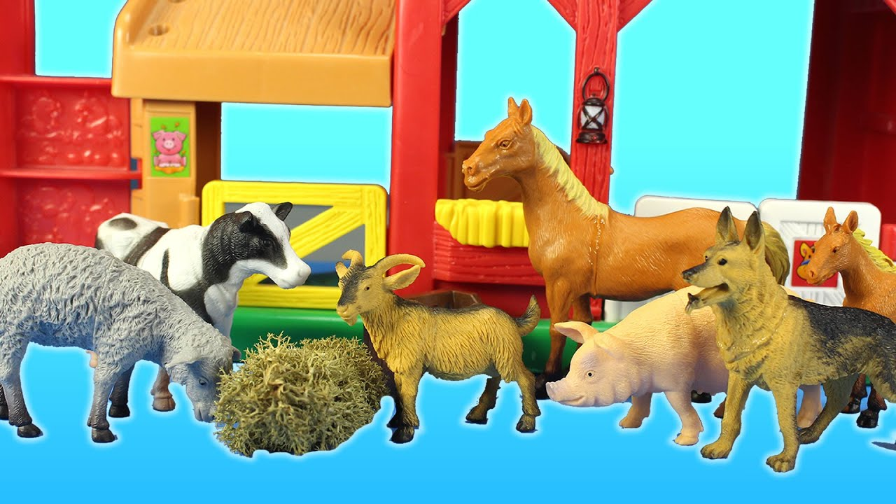 Farm Animals Toys Collection Horse Cow Goat Dog - Fun ...