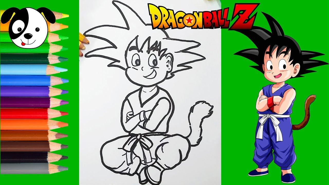Todas Las Fases De Goku Para Colorear: Goku Niño Para Colorear