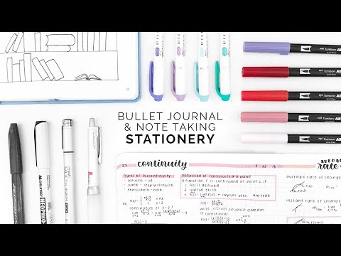 My 2019 Bullet Journal & Note-taking Essentials Mp3
