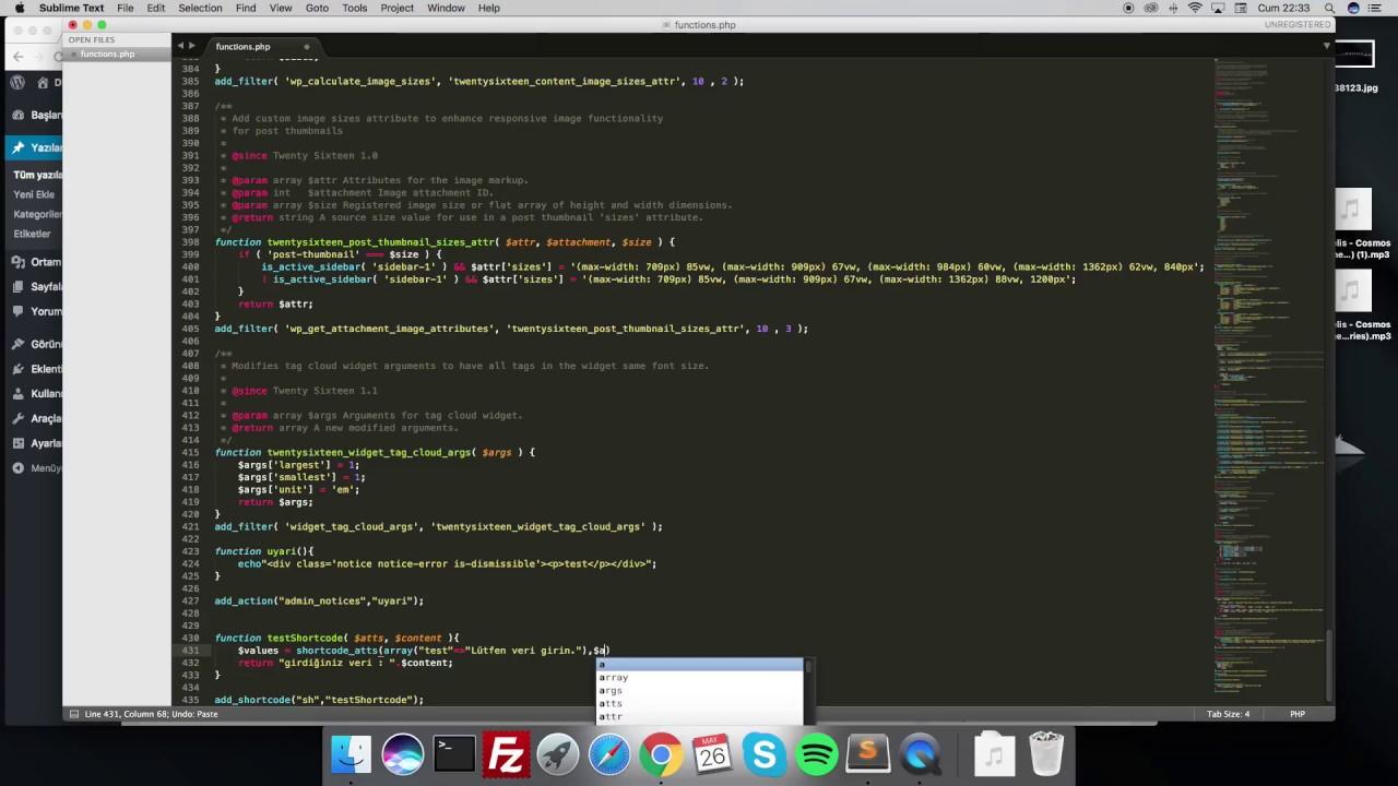 WordPress add_shortcode kullanımı