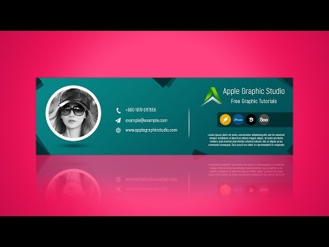 How to Create Email Signature - Photoshop CC Tutorial