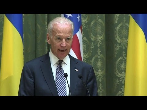 US VP Biden in Kiew to show support and warn Russia