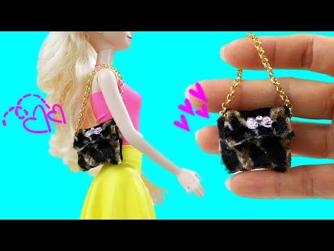 DIY Miniature Animal Print Purse for Barbie Dolls/Dollhouse Accessories Very Easy by Creative World