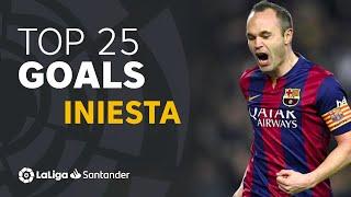 TOP 25 GOALS Andrés Iniesta in LaLiga Santander
