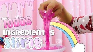 Fiz uma Slime com Todos os Meus Ingredientes! 🌸 Yasmin O...