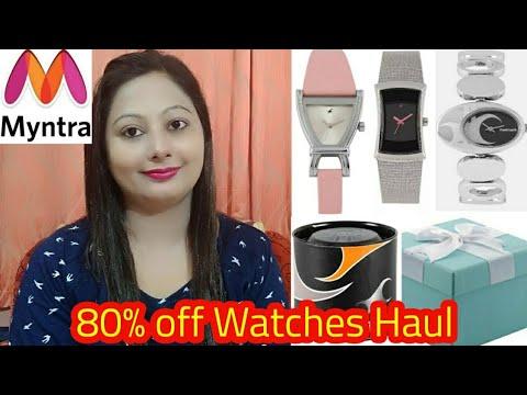 💕Myntra Shopping Haul💕 Myntra Watches Haul 💕80% Off Sale Shopping Haul 💕