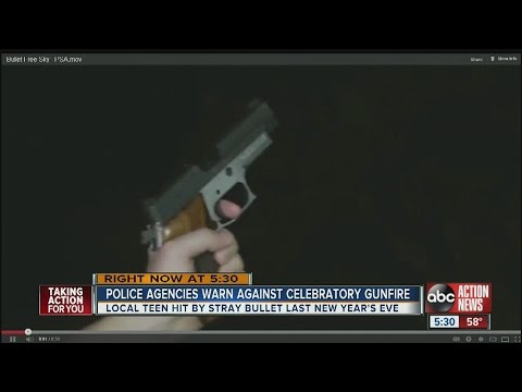 Police agencies warn against celebratory gunfire