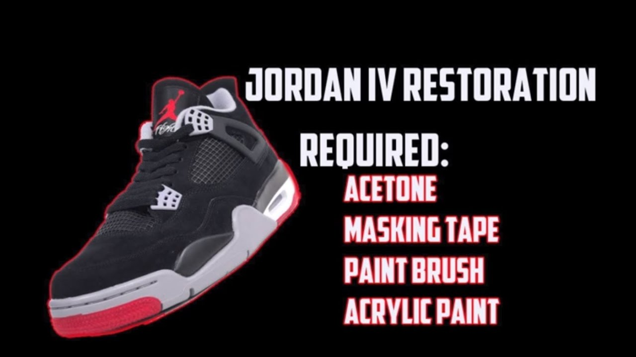 How To Repaint and Restore Jordan 4s With Paint Chipping