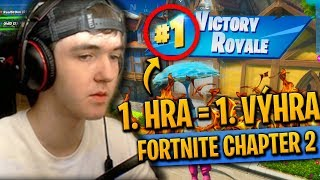 FORTNITE CHAPTER 2 - 1. HRA = 1. VÝHRA !!