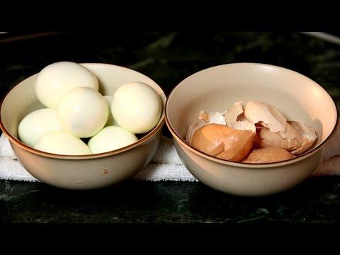 Как почистить яйца